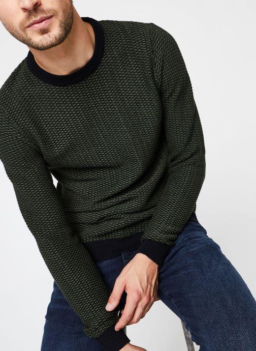 Vêtements Selected Homme Slhaiden Knit Vert vue détail/paire