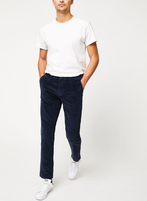 Vêtements Selected Homme Slhslim-Ryan Pants Bleu vue bas / vue portée sac