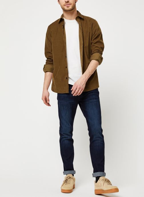 Vêtements Selected Homme Slhregcraig Shirt Marron vue bas / vue portée sac