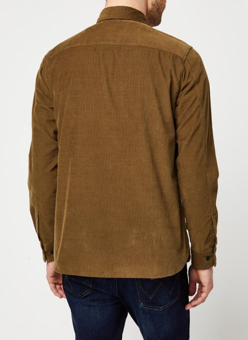 Vêtements Selected Homme Slhregcraig Shirt Marron vue portées chaussures