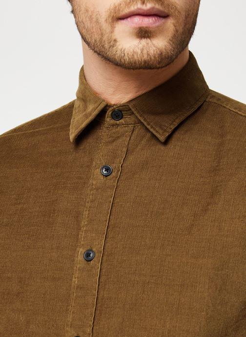 Vêtements Selected Homme Slhregcraig Shirt Marron vue face