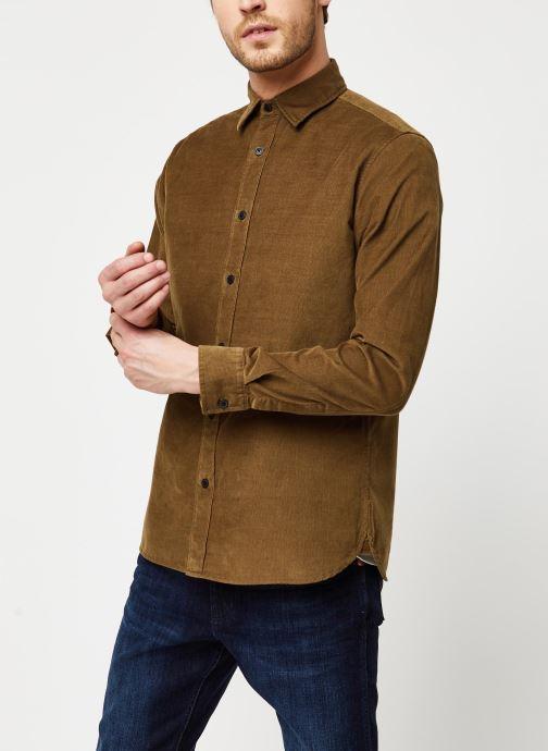 Vêtements Selected Homme Slhregcraig Shirt Marron vue droite