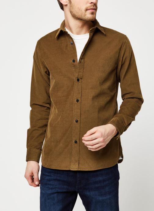 Vêtements Selected Homme Slhregcraig Shirt Marron vue détail/paire