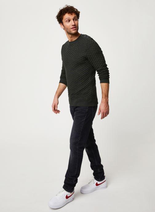 Vêtements Selected Homme Slhsquare Knit Noir vue bas / vue portée sac