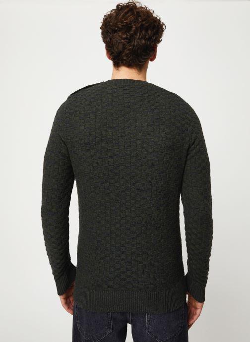 Vêtements Selected Homme Slhsquare Knit Noir vue portées chaussures