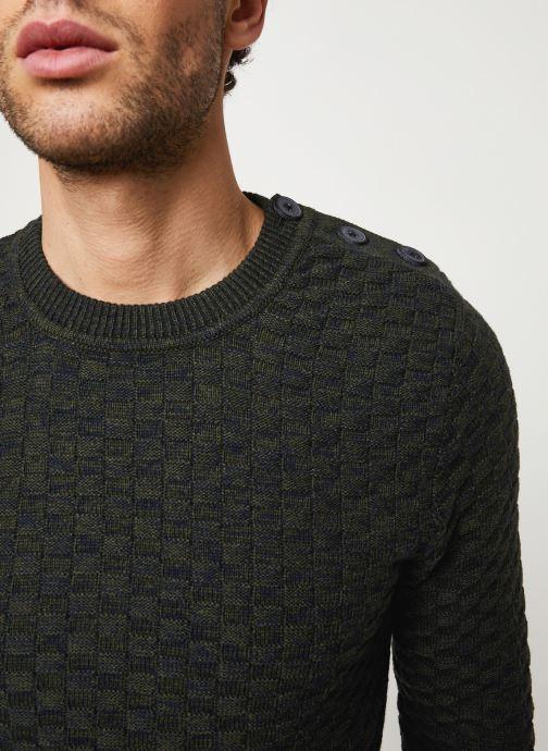 Vêtements Selected Homme Slhsquare Knit Noir vue face