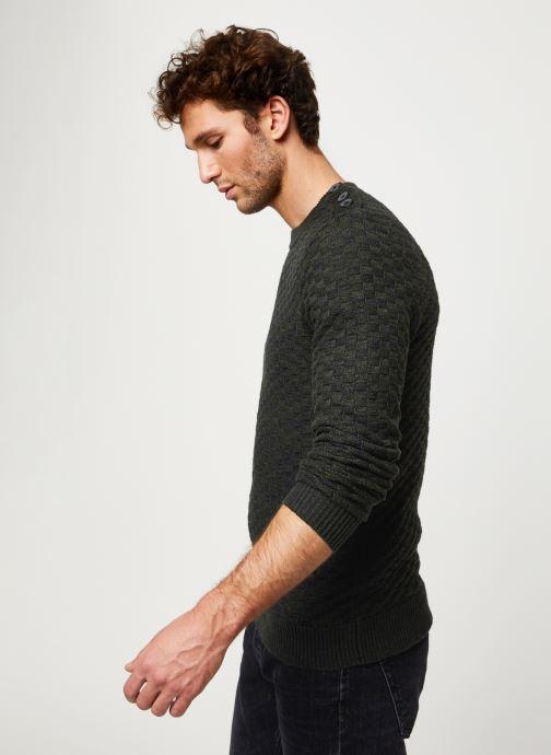 Vêtements Selected Homme Slhsquare Knit Noir vue droite