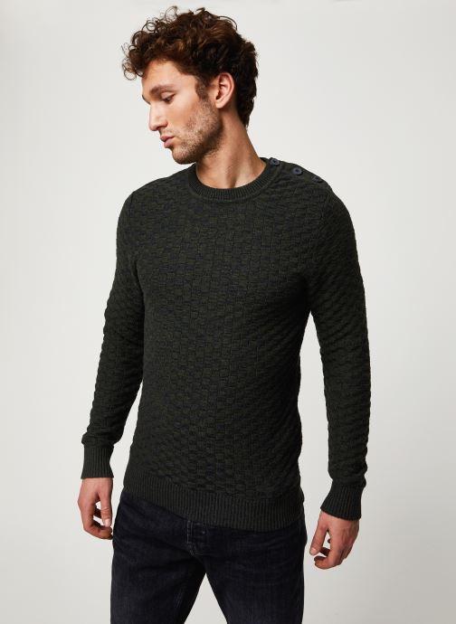Vêtements Selected Homme Slhsquare Knit Noir vue détail/paire