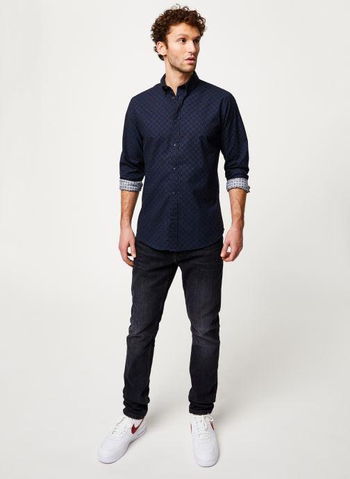 Vêtements Selected Homme Slhslimhoward Shirt Bleu vue bas / vue portée sac