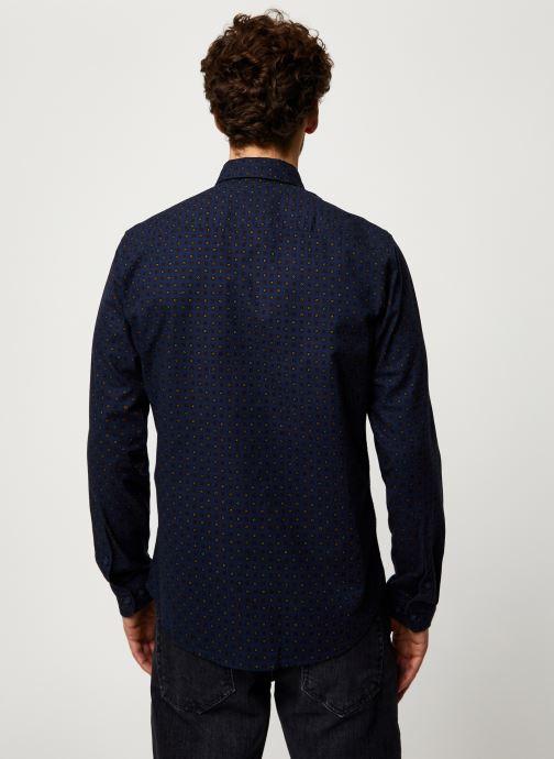 Vêtements Selected Homme Slhslimhoward Shirt Bleu vue portées chaussures