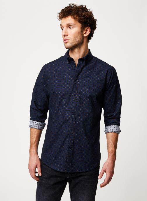 Vêtements Selected Homme Slhslimhoward Shirt Bleu vue droite