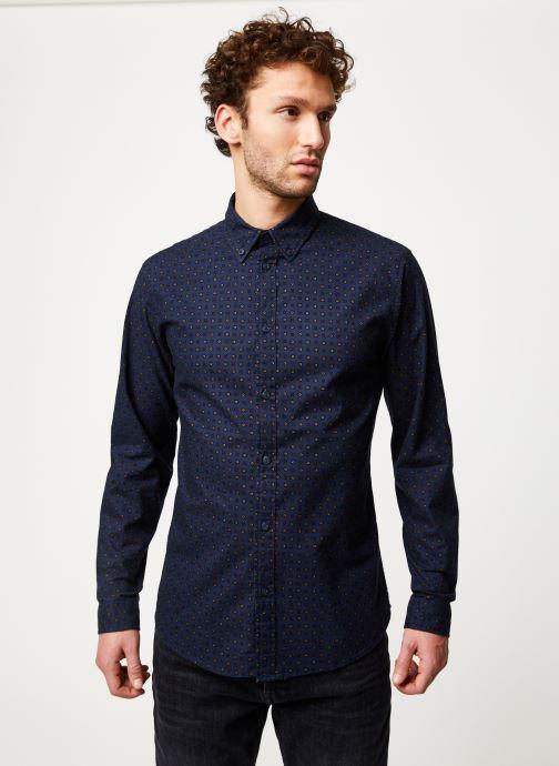 Vêtements Selected Homme Slhslimhoward Shirt Bleu vue détail/paire