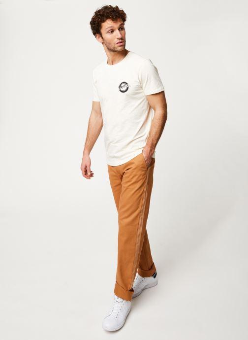 Vêtements Selected Homme Slhanders Tee Blanc vue bas / vue portée sac