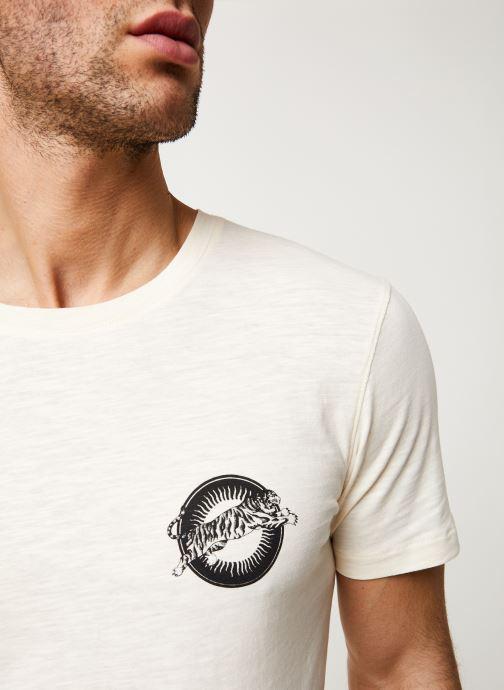 Vêtements Selected Homme Slhanders Tee Blanc vue face