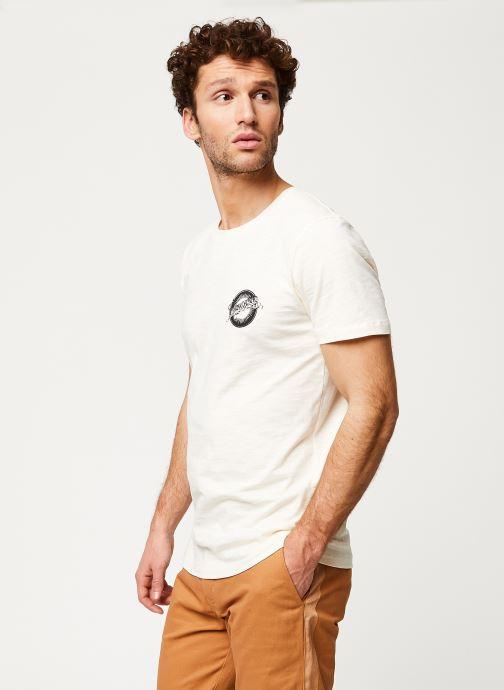 Vêtements Selected Homme Slhanders Tee Blanc vue droite