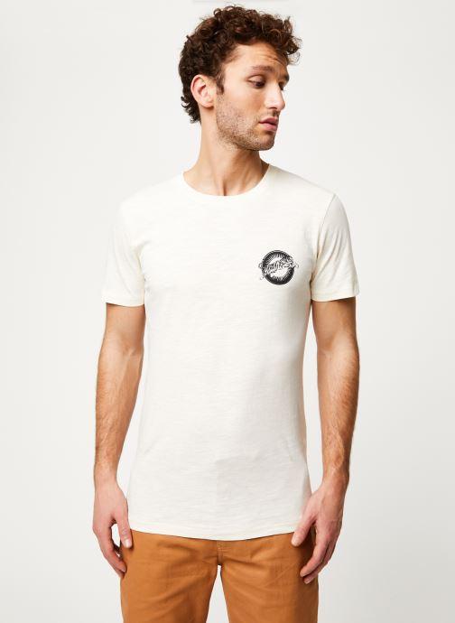 Vêtements Selected Homme Slhanders Tee Blanc vue détail/paire