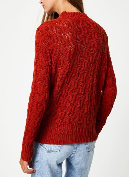 Vêtements Y.A.S Yasserena Knit Rouge vue portées chaussures