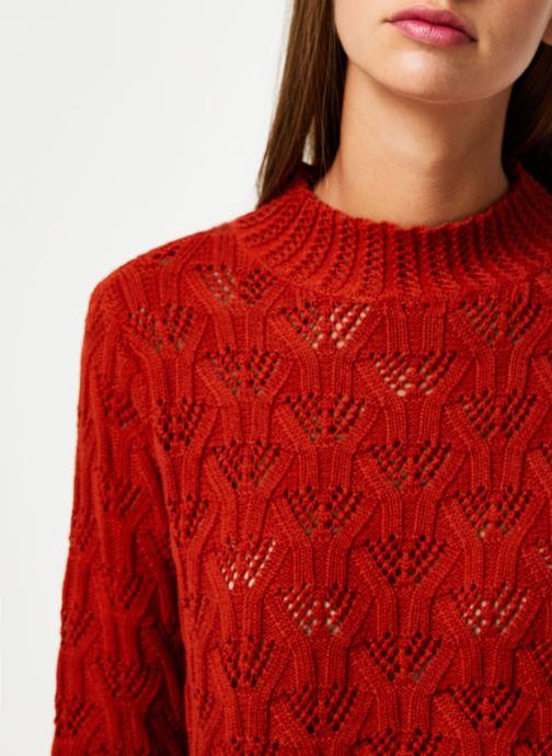 Vêtements Y.A.S Yasserena Knit Rouge vue face