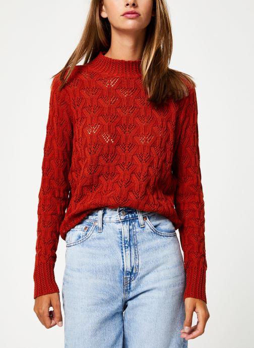Vêtements Y.A.S Yasserena Knit Rouge vue détail/paire