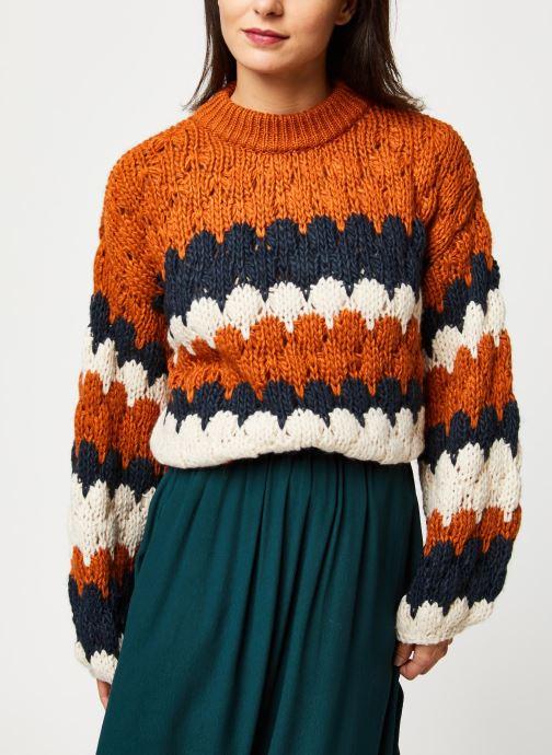 Vêtements Y.A.S Yastoni Knit Marron vue détail/paire