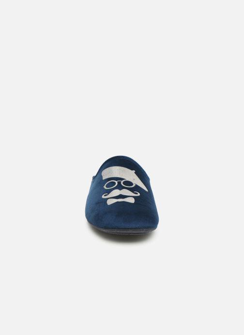 Chaussons Rondinaud Parana Bleu vue portées chaussures