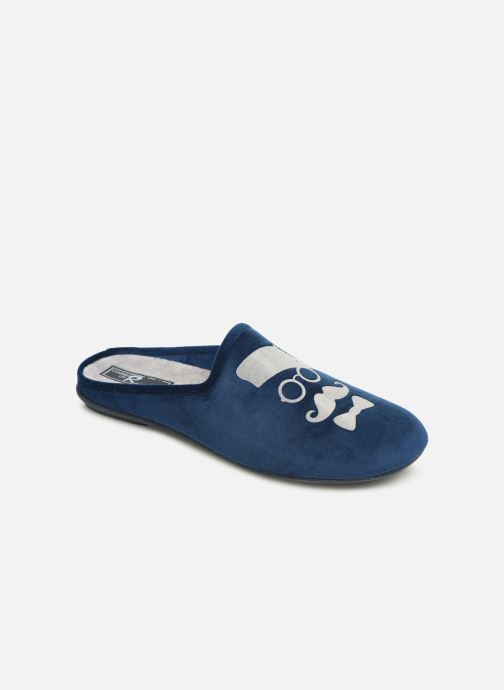 Slippers Rondinaud Parana Blue detailed view/ Pair view