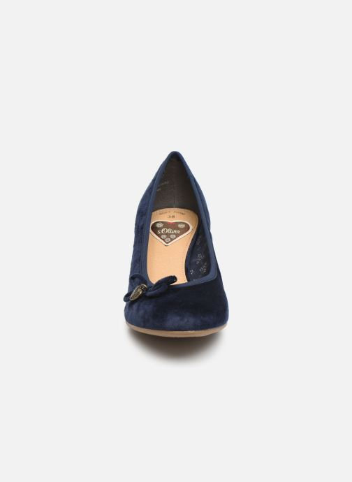 Escarpins S.Oliver Ariana Bleu vue portées chaussures