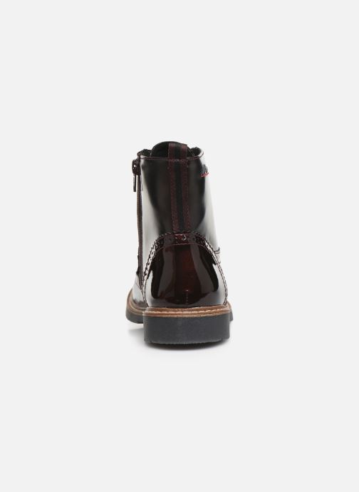Ankle boots S.Oliver Sara Burgundy view from the right