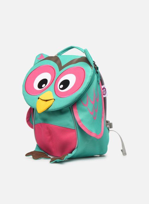 Sacs à dos Affenzahn Olivia Owl Small Backpack 17*11*25 cm Bleu vue portées chaussures