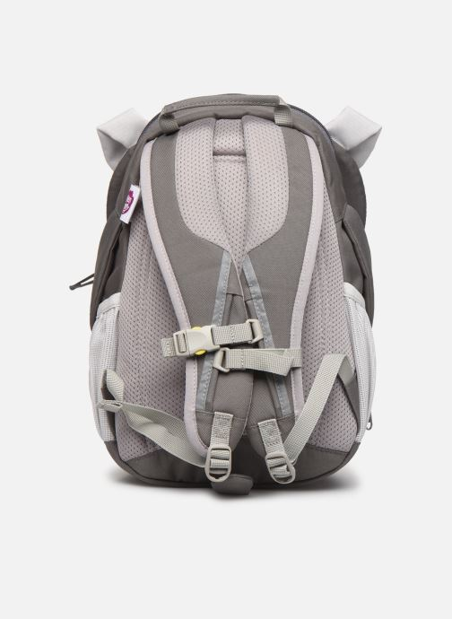 Schooltassen Affenzahn Dylan Dog Large Backpack 20*12*31 cm Grijs voorkant