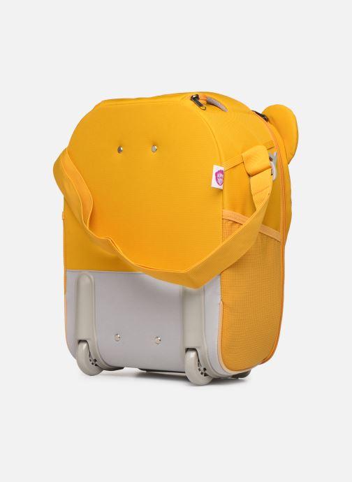 Bagages Affenzahn Timmy Tiger Suitcase 30*16,5*40cm Jaune vue droite