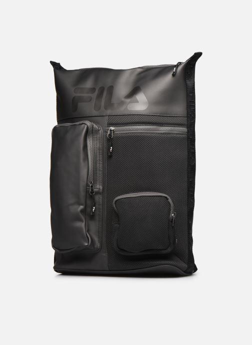 Sacs à dos FILA Soft Cube Backpack Frosted PU -3D Mesh Gris vue portées chaussures