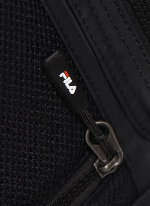 Mochilas FILA Soft Cube Backpack Frosted PU -3D Mesh Negro vista lateral izquierda