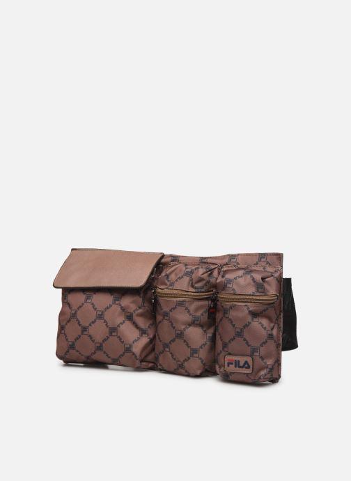 Borse FILA Waist Bag New Twist Marrone modello indossato