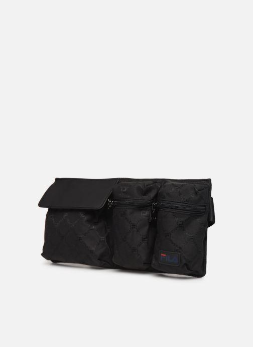 Pelletteria FILA Waist Bag New Twist Nero modello indossato