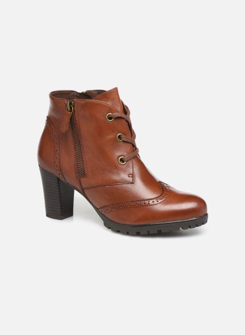 Ankelstøvler Caprice Alia Brun detaljeret billede af skoene