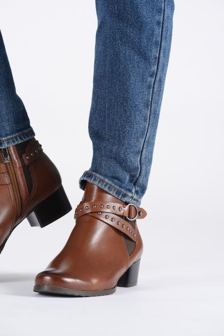 Bottines et boots Caprice Lola Marron vue bas / vue portée sac