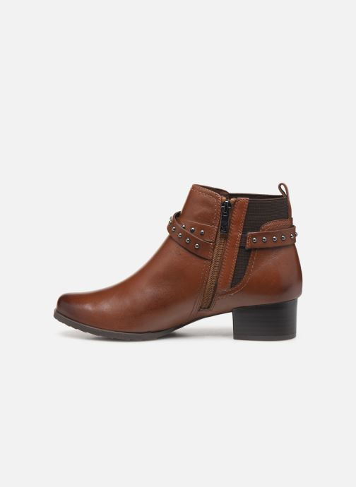 Ankle boots Caprice Lola Brown front view