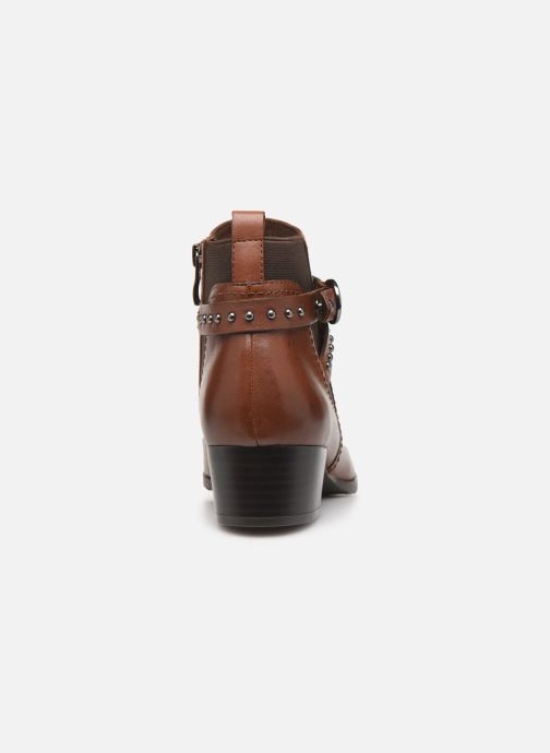 Ankle boots Caprice Lola Brown view from the right