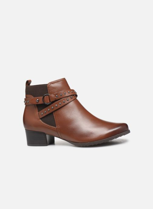 Ankle boots Caprice Lola Brown back view