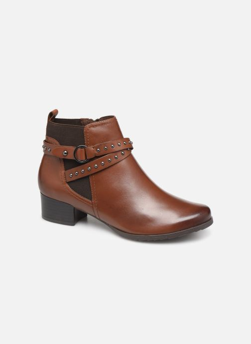 Ankle boots Caprice Lola Brown detailed view/ Pair view