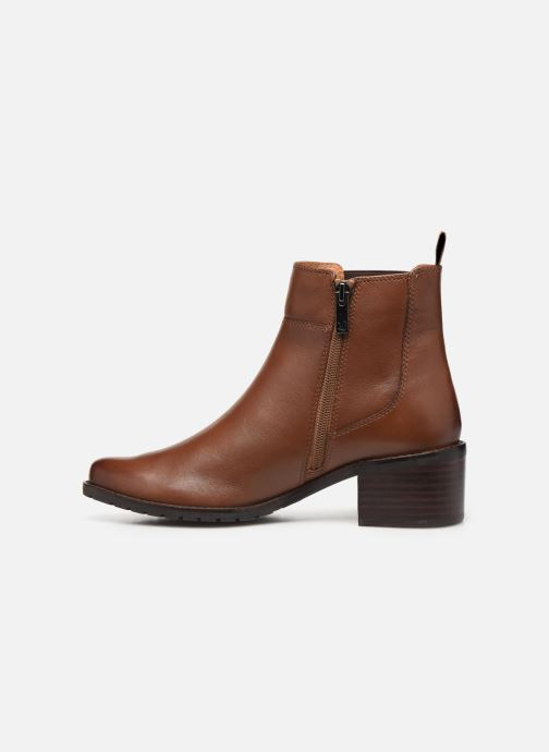 Ankle boots Caprice Lory Brown front view