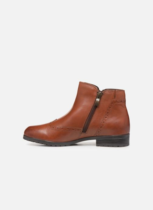 Ankle boots Caprice Sala Brown front view