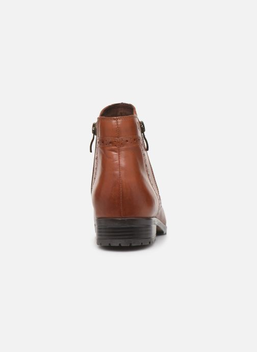 Ankle boots Caprice Sala Brown view from the right