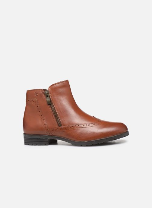 Ankle boots Caprice Sala Brown back view