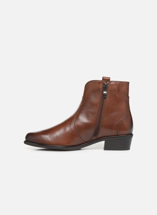 Bottines et boots Caprice Holy Marron vue face