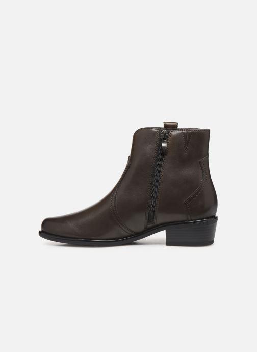 Bottines et boots Caprice Holy Vert vue face