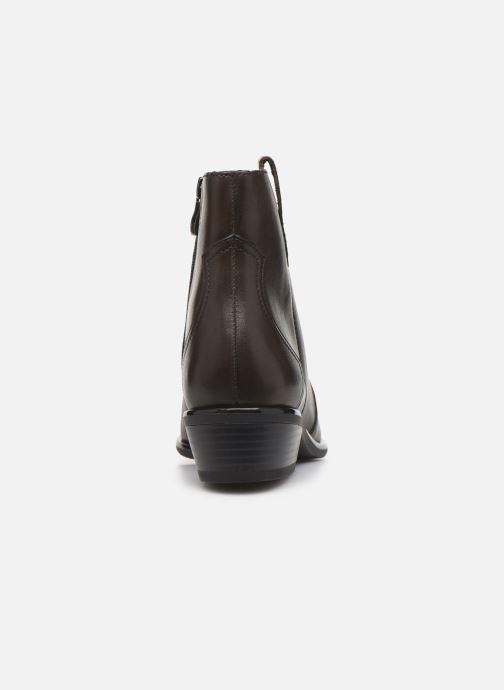 Bottines et boots Caprice Holy Vert vue droite