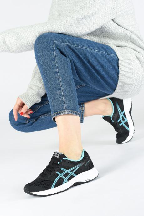 Chaussures de sport Asics Gel-Contend 5 Noir vue bas / vue portée sac