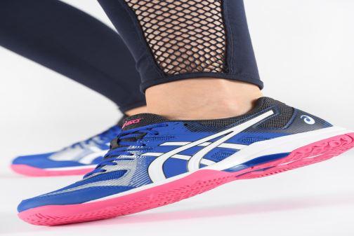 Chaussures de sport Asics Gel-Rocket 9 Bleu vue bas / vue portée sac